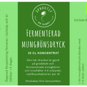 Fermenterad Mungbönsdryck – Kort utgångsdatum