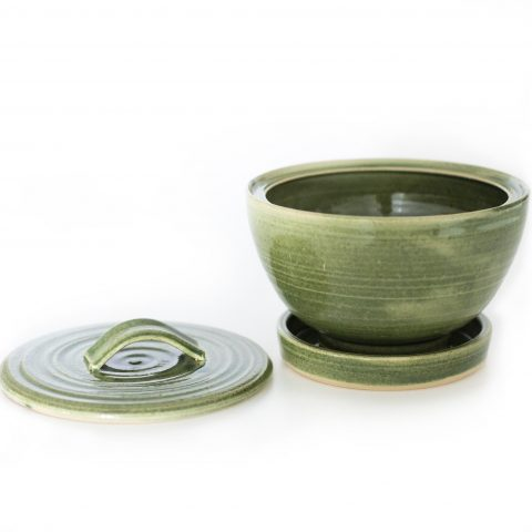 Groddskål keramik med lock 2