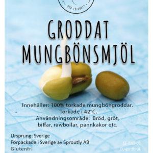 Mungbönsmjöl GRODDAT GLUTENFRI EKO RAW  1 kg