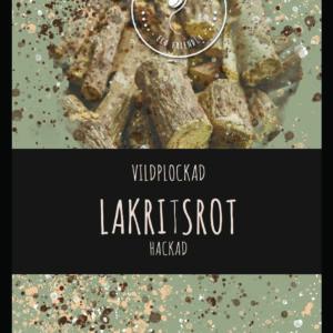 Lakritsrot hackad VILDPLOCKAD 100 – 250g